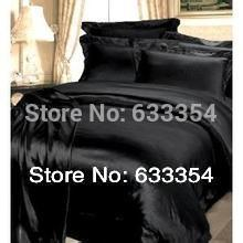 100%silk  plain color bedding set   4pcs bedsheet  duvet cover pillowcases quilt cover black, blue, white, red,grey,camel coffee(China (Mainland))