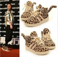 new 2014 leopard Printed Platform shoes Tiger Tail creepers Cotton shoes Casual sneakers for women flats shoes hot sale