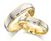 2pcs/lot Pure Titanium Wedding Rings, Comfort Fit Jewelry, 6mm For Men, 4mm For Women, Free Shipping Ti040R