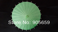 (50 pcs/lot) Handmade 15.7 Inches Solid Green Color Paper Umbrellas Decorations