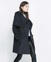 Free shipping  women  woolen cape double breasted Women's Outerwear Lady's Slim Wool Coat Winter Cloak Cape Coat Winter Jacket