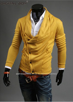 New Brand Top Rated  Sweaters Men Winter 2014,Black Casual Slim Cotton Cashmere polo pullovers 1 PCS Only Drop shipping