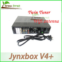 2pcs/lot Jynxbox ultra hd V4+ with wifi and jb200 8PSK module Twin tuner and USB jynxbox ultra v4+hd satellite receiver