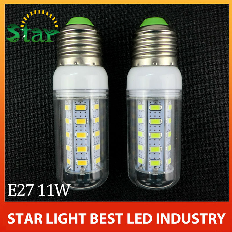 2014 new High Power Mini E14 E27 G9 GU10 B22 5730 SMD LED Corn Bulbs 36leds 12W White/Warm White 220V-240V Free shipping(China (Mainland))