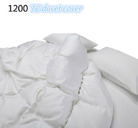 White color 1200  TC  100%  Pima cotton duvet cover customize 1.5 m 1.8 m  king size queen size quilt cover