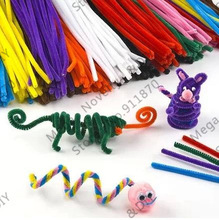 """Free Shipping 300pcs/lot 27 colors 12"""" Kids DIY Stick Bar Fuzzy Chenille Stem Handcraft DIY flower Accessories ds229(China (Mainland))"""