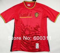 best thailand quality Belgium 2014 world cup home LUKAKU HAZARD VERMAELEN Kompany Fellaini soccer jerseys,free shipping