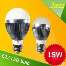 led light e27 3 W 3*3W 15W spotlight 110V 220V aluminum bulb ceiling lights free shipping bridgelux high power led(China (Mainland))