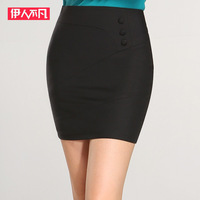 2014 New spring Black full size high waisted skirts women high waist pencil skirt