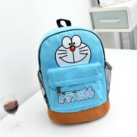 Cartoon canvas DORAEMON kindergarten backpack child school bag  free shipping
