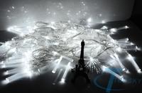 220V 6W 10m 100LED Holiday Light Optical Fiber Fairy String White Lights For Xmas Christmas Wedding Party EU Plug