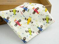 2014 Newest Cute Plane Cotton Fabric Cartoon Children Bedding Set Fabric Quilting Fabric patchwork cloth Home Textile B2014314