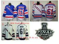 2014 Stadium Series New York Rangers Jerseys 61# Rick Nash White 2014 Stanley Cup Mens Ice Hockey Jersey Allow mix order.