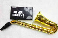 Retail 1PC New Metal Pipe Saxophone-shaped Tobacco Pipe With Novelty Gift  For Men Promotional Gifts Free Shipping