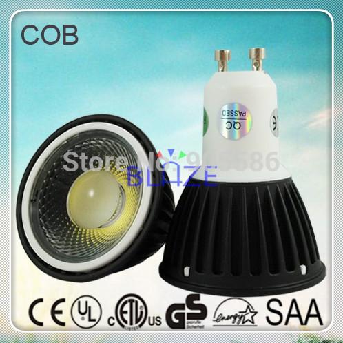 Wholesale 100pcs 5W COB LED Spotlight Bulbs GU10 Dimmable LED Lamp lightings Black Shell 38 Degree 2 Years Warranty(China (Mainland))