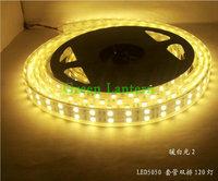 5M/Roll 5050 LED Strip 600 LEDs warm white waterproof IP67 silicone tube led stripes