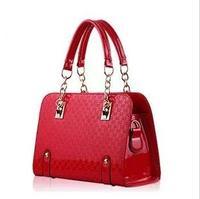 2014 japanned leather women's shell handbag  the wedding bridal bag  free shipping