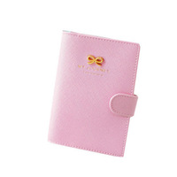 Free Shipping Fashion New Ribbon Passport Holder Documents Bag Sweet Trojan Travel Passport Cover Card Case