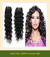 Free shipping Deep Wave 5A Unprocessed Julia queen hair 4pcs Lot Peruvian Virgin Hair Extensions Natural Color