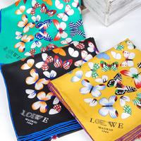 2014 summer  pure silk colorful butterfly bandana women free shipping