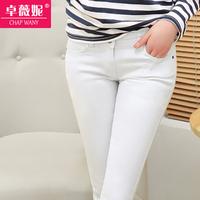 2014 Spring Multicolour Candy Color Pencil Pants Legging Elastic Denim Female Skinny 320g Free Shipping TR008 Plus Size