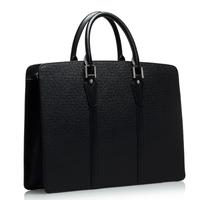 Fine man bag business bag briefcase genuine cowhide leather shoulder bag male horizontal cross-body handbag