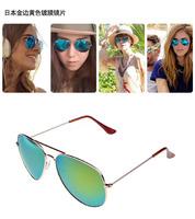Fashion Classic Vintage Metal RB 3025 3026 Aviator Driving Mirror Gradient Sunglasses