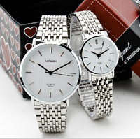 electronic 2014 new!Fashion casual slim Men watch ladies watch waterproof watch fashion watches steel couple tables Freeshipping