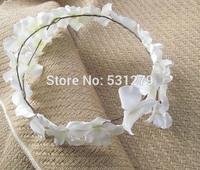 Wedding decorative wreaths handmade silk flowers artificial garland mory girl flowers head crowns HZW015 in free shipping