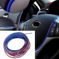 5M Auto Decoration Sticker Thread Car Interior Exterior Body Modify Decal Green Yellow Golden Blue Purple Silver Pink