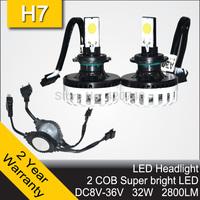 2014 NEW 20W CREE XML LED Headlight Headlamp Auto Autocar Conversion Car Kit H7 2400LM 12V 24V Aluminum Alloy IP68 6000K