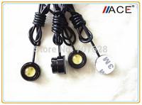 Aluminum Alloy Eagle Eye Light Car Revrse Light Fog Lamp Daytime Running Bulb Universial For All Car License Plate Light White