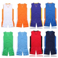 [Bella Sports] New Basketball Jerseys Men Basketball training suit ( shirts+shorts) Men's basketballs clothes 6 colors 1ML0002