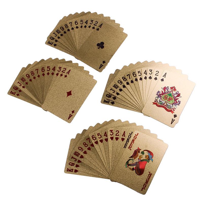 24K Karat Gold Foil Plated Game Poker Casino Playing Card Deck#49938(China (Mainland))