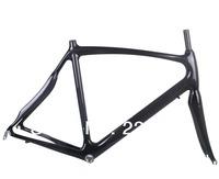 New Sale Cheapest Full Carbon Road Bike Bicycle Frame Fork Racing Carbon Frameset Fork Headset 54CM 3K Gloss