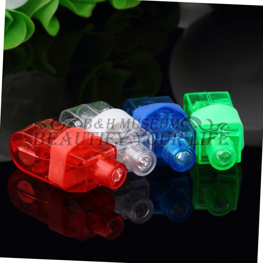 4pcs Party KTV Bar gift Multi-color Bright LED laser Finger Ring Light Lamp Beams Torch(China (Mainland))