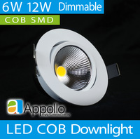 Промышленное освещение Appollo 6pcs/6w 12W AC110 220 /Cool LDCOBW