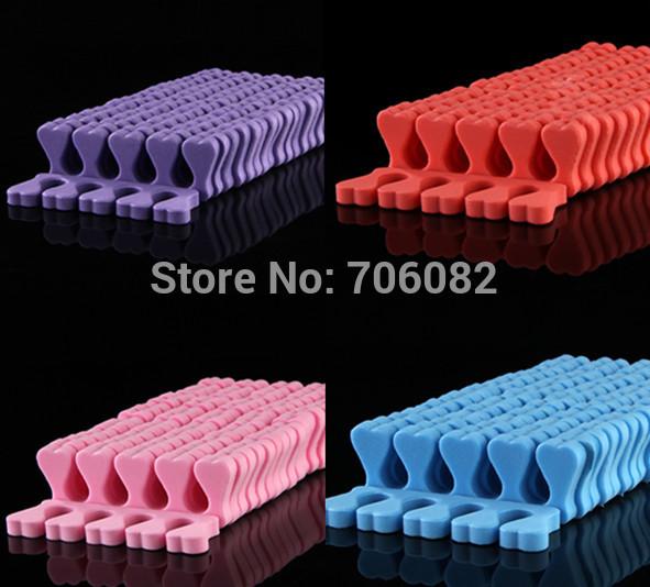 50pcs Orthodontic Straightening Pad Toes Hammer Sub-toe Toe Separator Nail Art Tools JH053(China (Mainland))