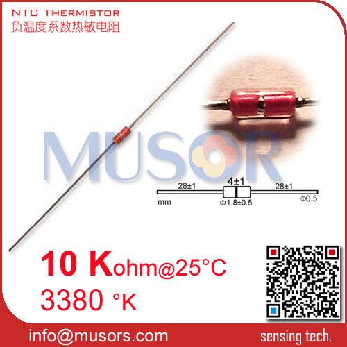 Резистор Musors MGD18 10 K 1% 3380 UL NTC + + + + + + + MGD18-103F3380U  цена