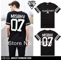 Hiphop 2014 Summer New Cotton Men Fashion Street MISBHV HBA 07 Tower Short-Sleeve T-shirt