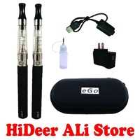 Ego-CE4 in Zip Case Double Kit Huge Vapor Electronic Cigarette Ego CE4 Starter Kit Factory Supply Free Shipping (1*EGO-CE4 Zip)
