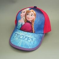 Free shipping 1pcs/lot Baby Cartoon Frozen baseball cap Summer beret hat children's hat