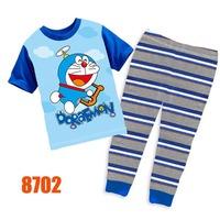 Boys Spiderman Pajamas Sets Children Autumn -Summer Clothing Set New 2014 Wholesale Kids Short-Sleeve Cartoon Pijamas 8276