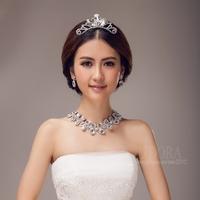 Luxury Halo Crystals Bridesmaid Bride Jewelry Set