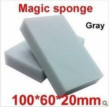 200 pcs/lot Gray Magic Sponge Eraser melamine cleaner,multi-functional Cleaning 100x60x20mm Wholesale Retial(China (Mainland))
