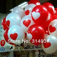 New 100pcs/lot heart ballons latex wedding decoration dot balloon for party,hotel,birthday,carnival freeshipping polkadots