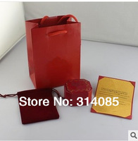 Sexy Fresh Red Color Jewelry Packaging,Full Jewel Boxing Set Contain 3 Item,Paper Bag,Box,and Certificater.Only Use For RING