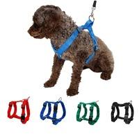 Pet Harness Nylon Adjustable Safety Control Restraint Cat Puppy Dog Harness Soft Walk Vest Large Dog Blue Red Black Green