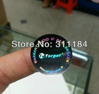 custom hologram sticker silver laser sticker adhesive sticker