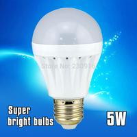 Super brightness LED Bulb E27 B22 2835SMD 5W 200V-240V energy saving white/warm white Free shipping